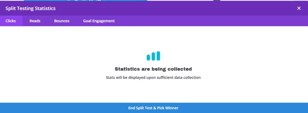 Split test stats