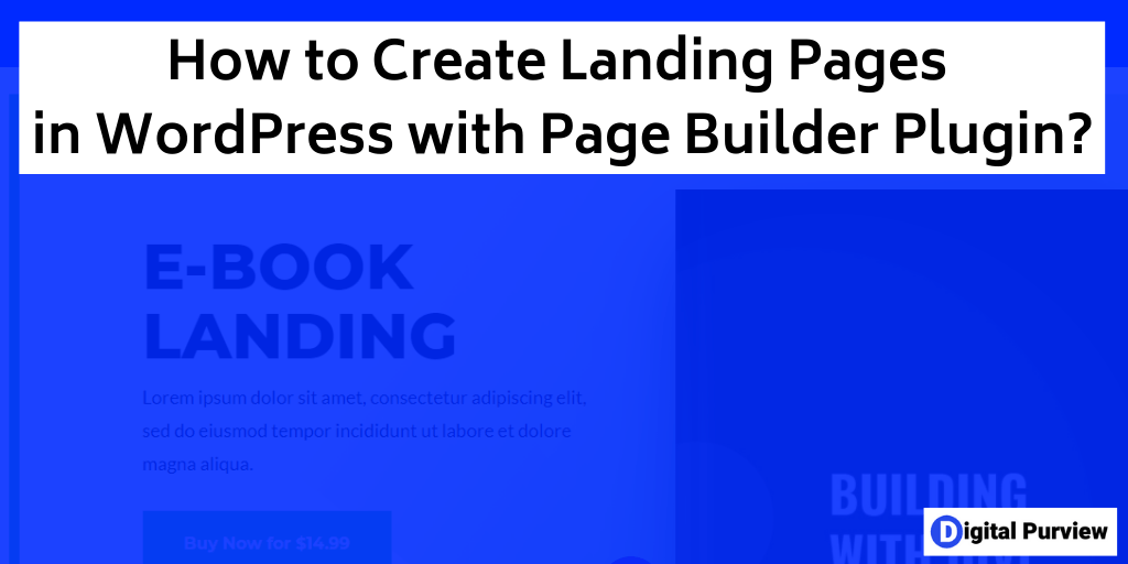 create landing page in wordpress