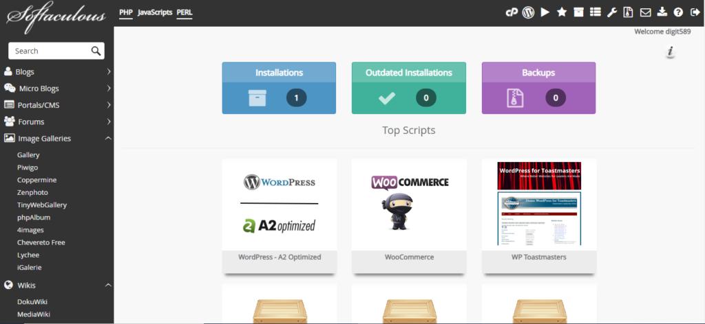 A2 Hosting - WordPress Installation