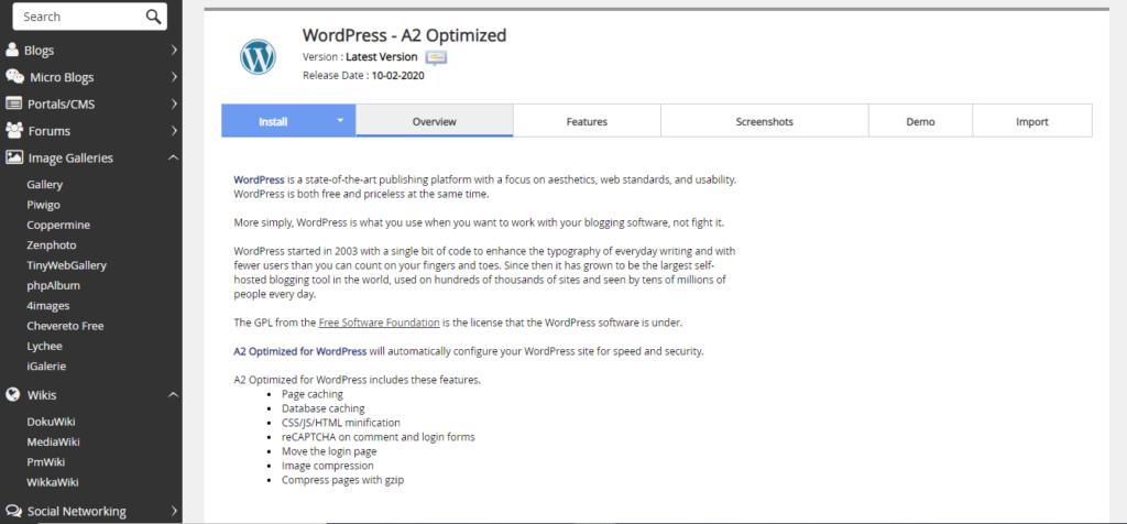 A2Optimized WordPress
